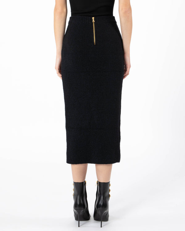 BALMAIN Eight Button Wrap Midi Skirt | newtntfashion.
