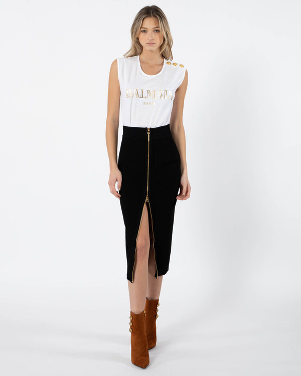 BALMAIN Diamond Knit Skirt | newtntfashion.
