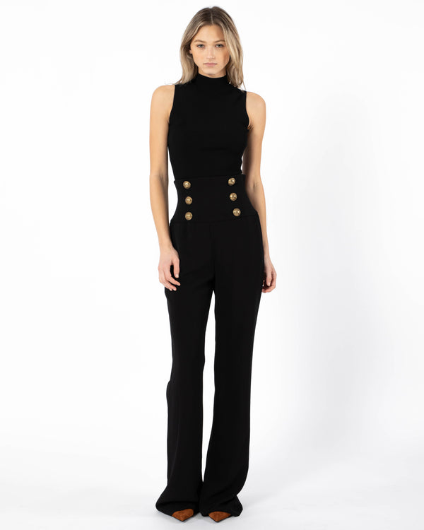 BALMAIN Corset Wide Leg Pants | newtntfashion.