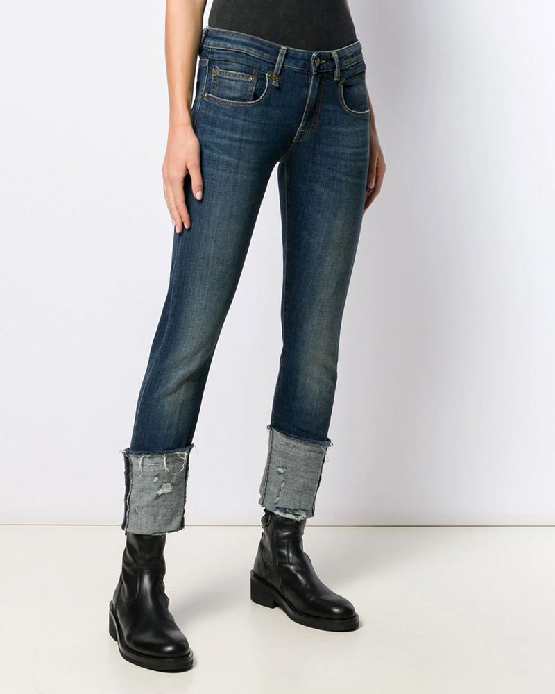 Boy Skinny With Cuff Jeans