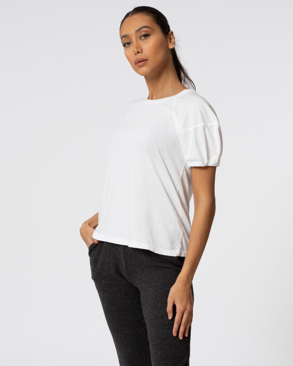 VELVET - Sueded Puff Sleeve Top | Luxury Designer Fashion | tntfashion.ca