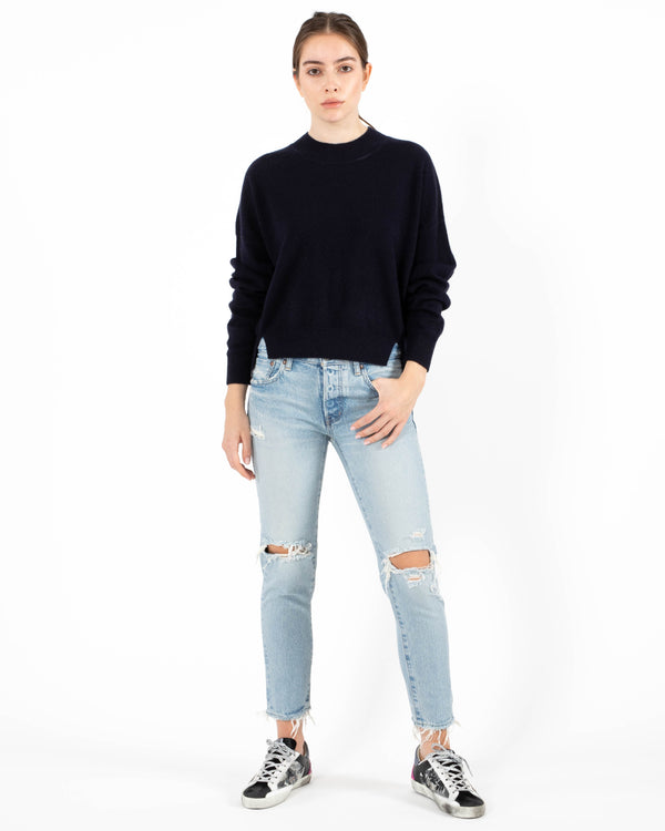NAADAM Crop Crewneck Pullover | newtntfashion.
