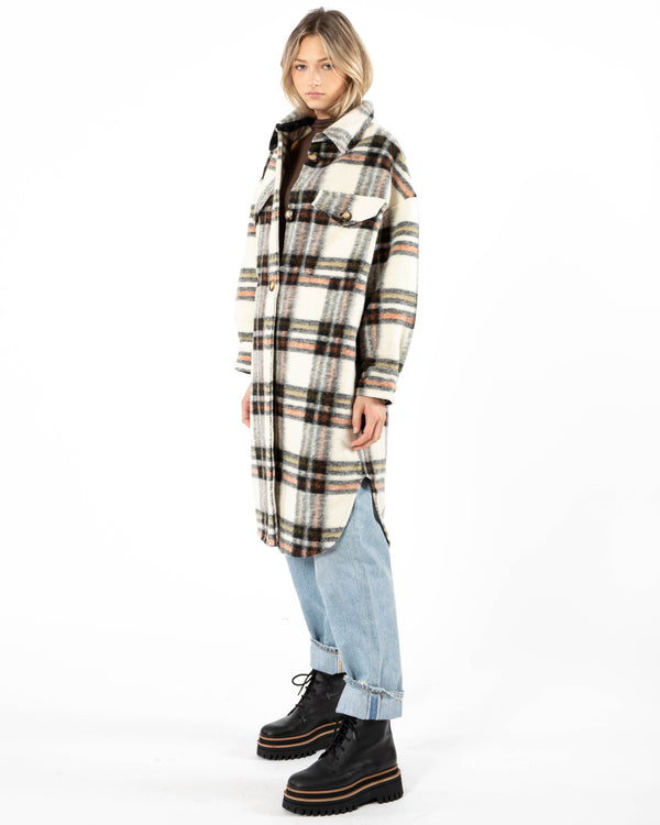 DUCIE Check Oversize Shirt | newtntfashion.