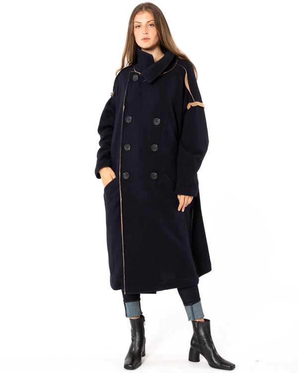 Y'S - U-Big Coat | Luxury Designer Fashion | tntfashion.ca