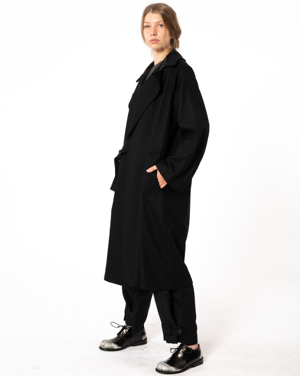 Y'S - K-Belt Coat | Luxury Designer Fashion | tntfashion.ca