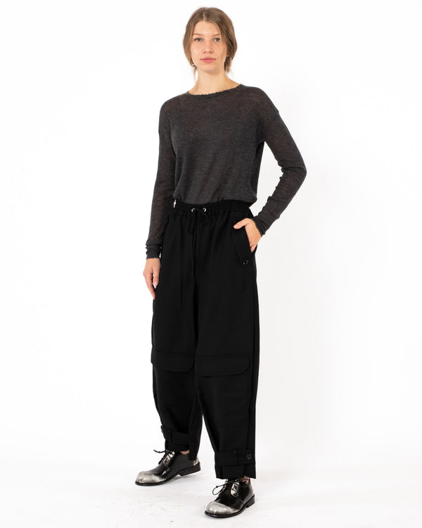 Y'S - N-Waist String Pants | Luxury Designer Fashion | tntfashion.ca