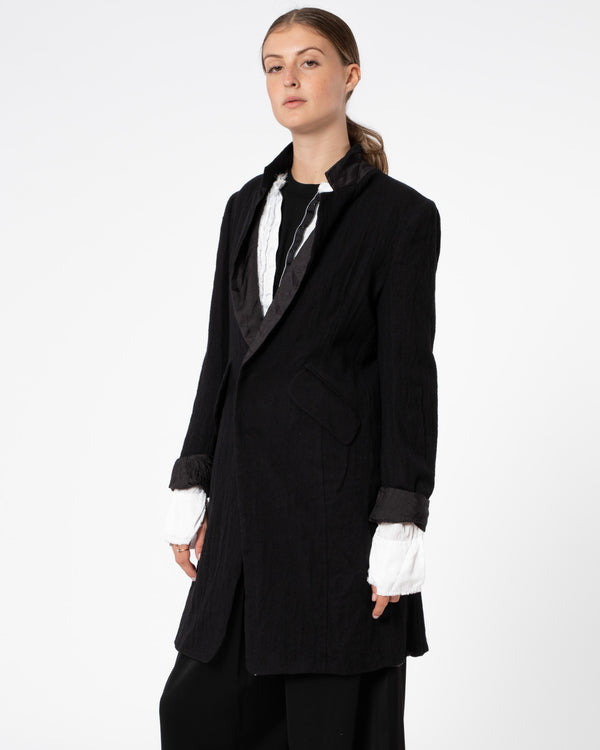 Y'S - U-Long Tailored Jacket | Luxury Designer Fashion | tntfashion.ca