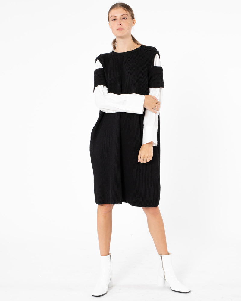 Y'S Shoulder Dress With Shirt | newtntfashion.