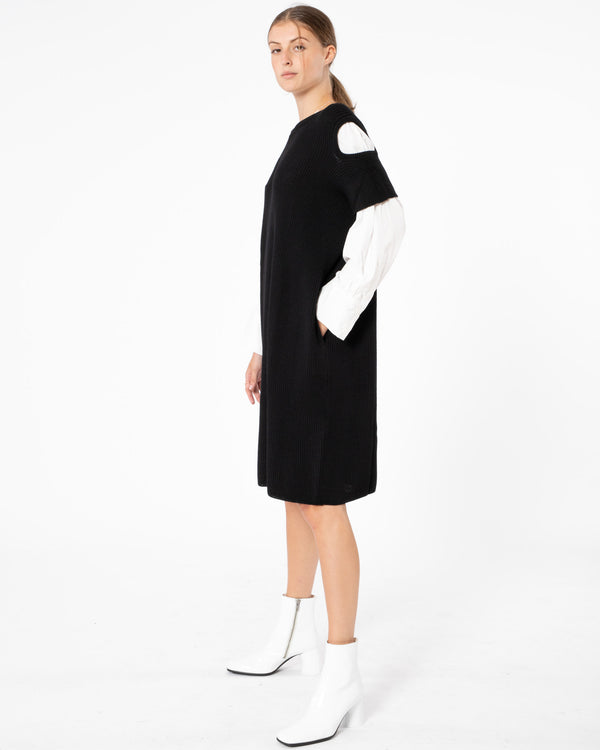 Y'S - Shoulder Dress With Shirt | Luxury Designer Fashion | tntfashion.ca