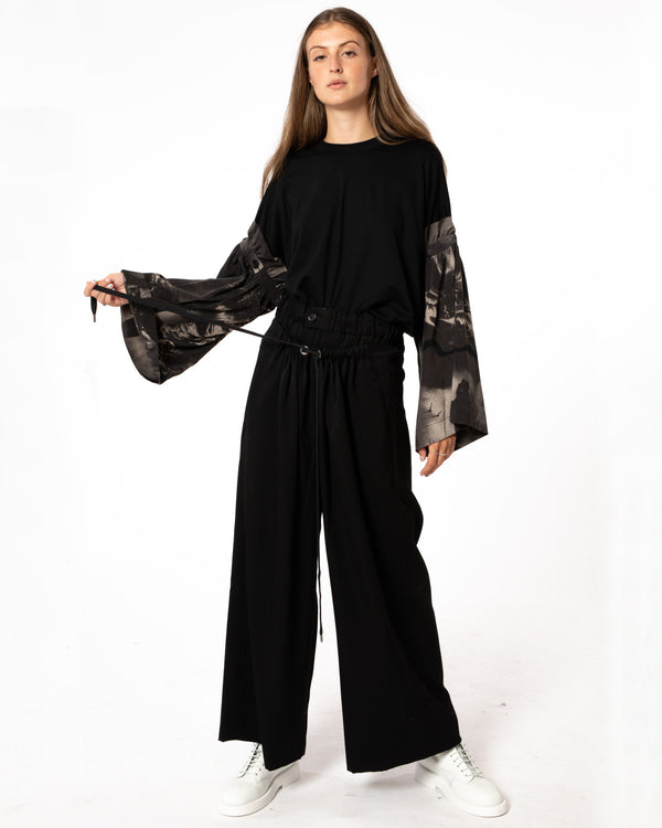 Y'S - N-Double Waist Pants | Luxury Designer Fashion | tntfashion.ca