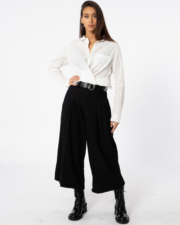 Y'S - U-B Tuck Pants | Luxury Designer Fashion | tntfashion.ca