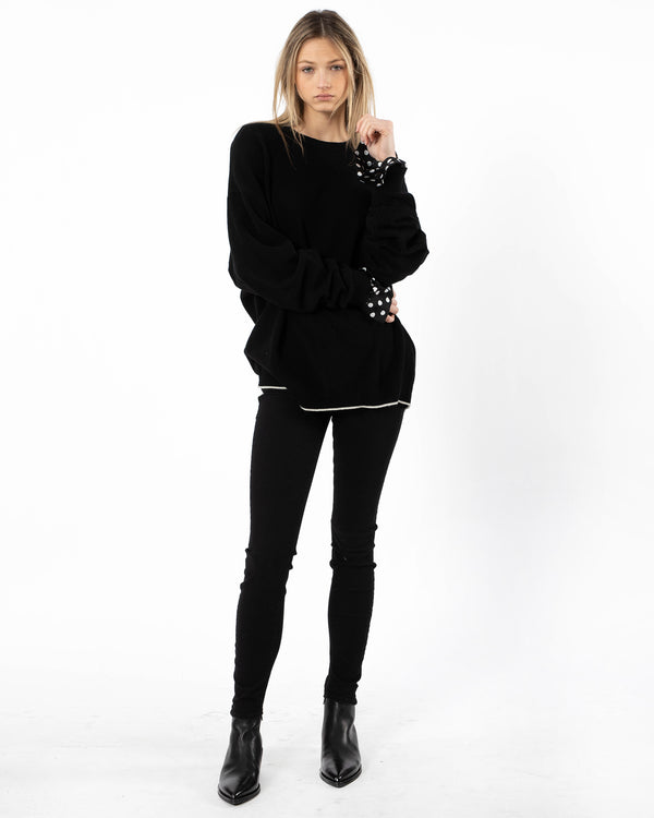 Y'S - O-Sleeve Layered T-Shirt | Luxury Designer Fashion | tntfashion.ca