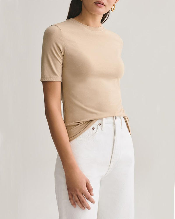 Elie Mid-Sleeve Fitted T-Shirt