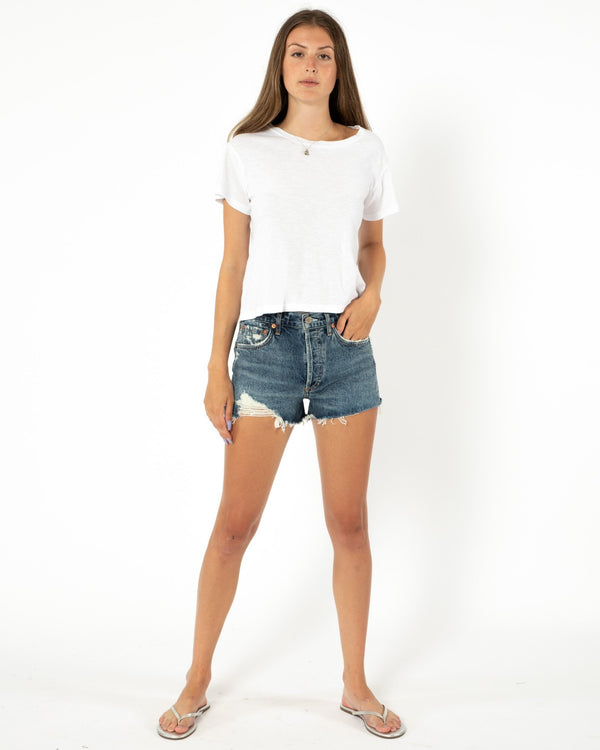 AGOLDE Parker Cut Off Shorts | newtntfashion.