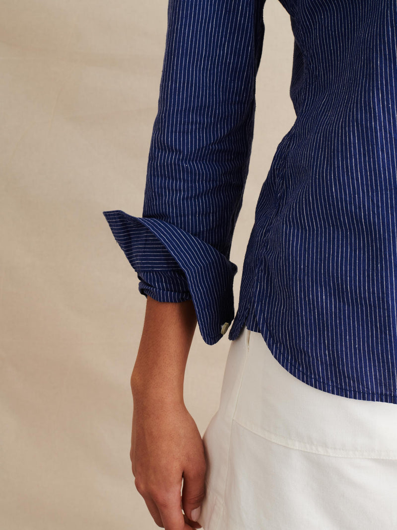 ALEX MILL Shrunken Stripe Shirt | newtntfashion.