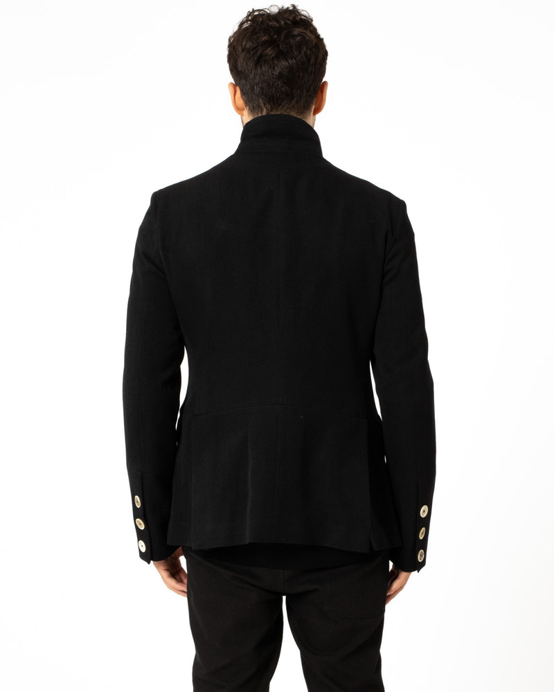 ANN DEMEULEMEESTER Wool Caban Jacket | newtntfashion.