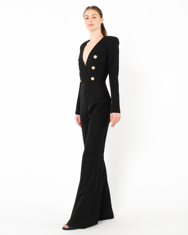 BALMAIN Flared Jumpsuit | newtntfashion.