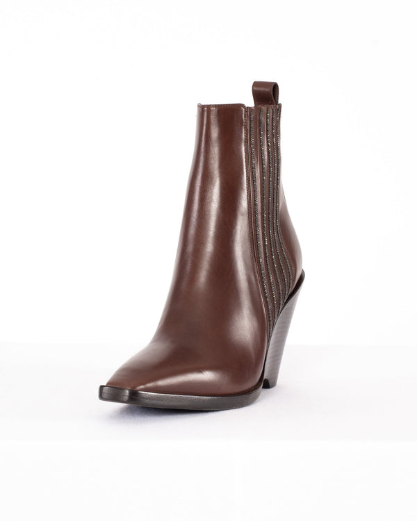 BRUNELLO CUCINELLI - Wedge Ankle Boot | Luxury Designer Fashion | tntfashion.ca