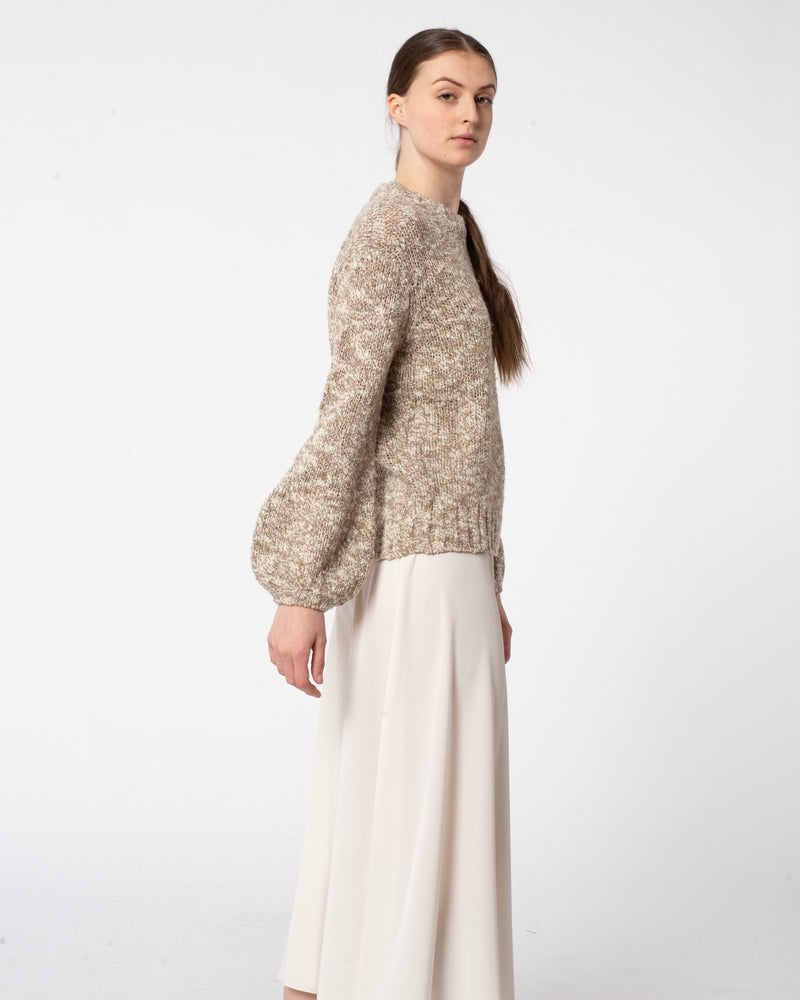 CO - Boucle Wool Balloon Sleeve Sweater | Luxury Designer Fashion | tntfashion.ca