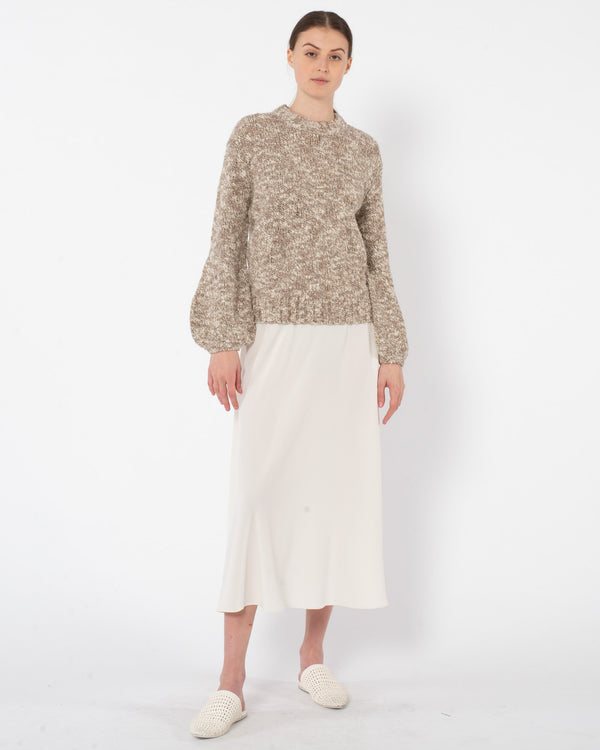 CO Boucle Wool Balloon Sleeve Sweater | newtntfashion.