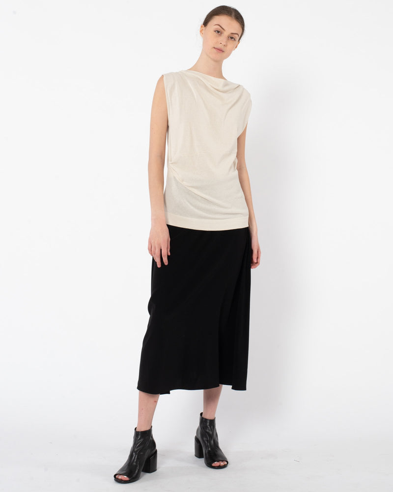 CO - Draped Neck Tank Top | Luxury Designer Fashion | tntfashion.ca