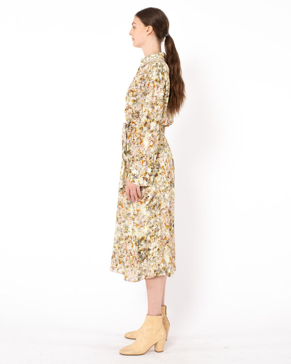 CO Floral Midi Shirt Jacquard Dress | newtntfashion.