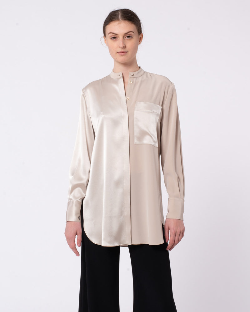 Japanese Satin Stretch Blouse