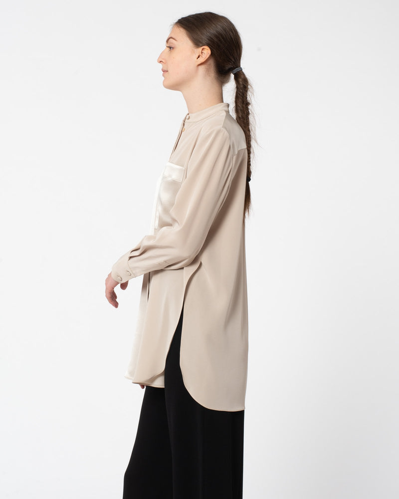 CO Japanese Satin Stretch Blouse | newtntfashion.