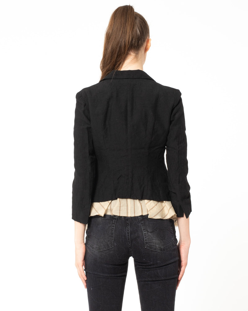 FORME D'EXPRESSION Shrunken Jacket With Ruffle | newtntfashion.