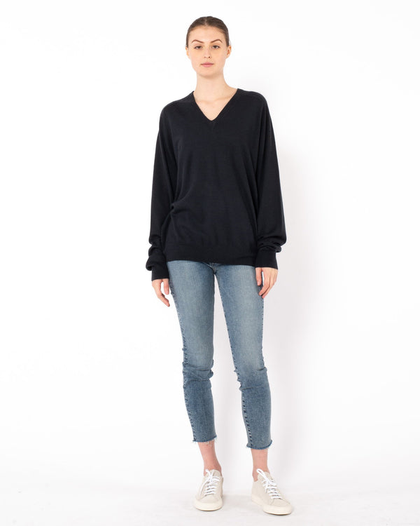 FRENCKENBERGER - Boyfriend V-Neck Sweater | Luxury Designer Fashion | tntfashion.ca