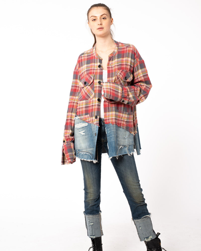 50/50 Flannel Top
