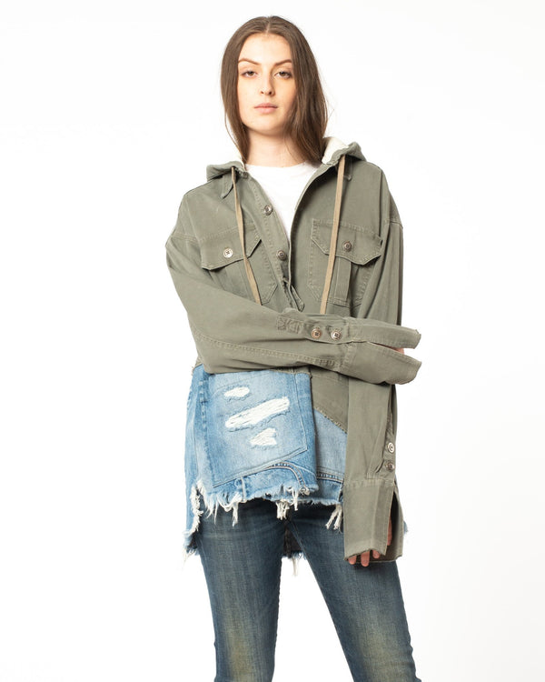 GREG LAUREN - 50/50 Hooded Jacket | Luxury Designer Fashion | tntfashion.ca