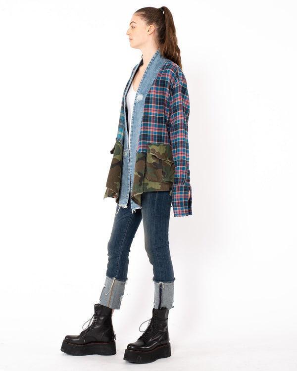 GREG LAUREN - 50/50 Kimono Cardigan | Luxury Designer Fashion | tntfashion.ca
