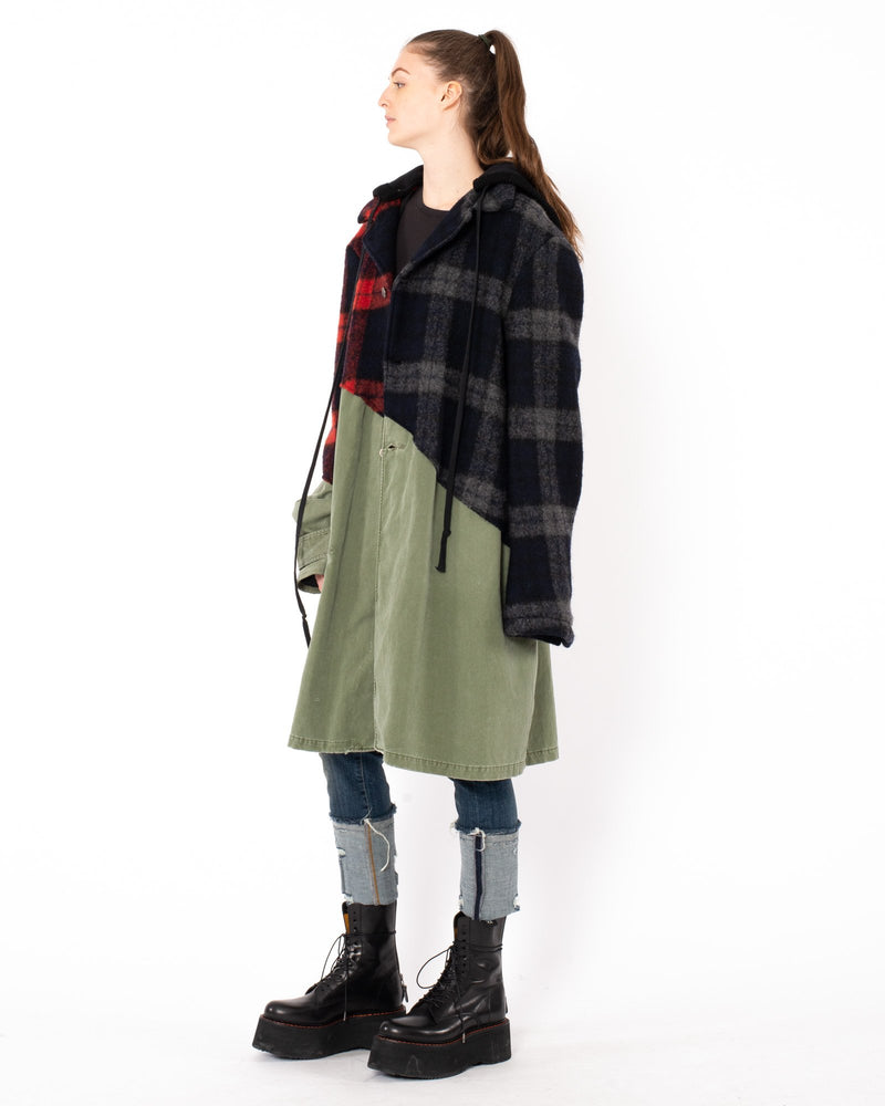 GREG LAUREN 50/50 Trench Coat | newtntfashion.