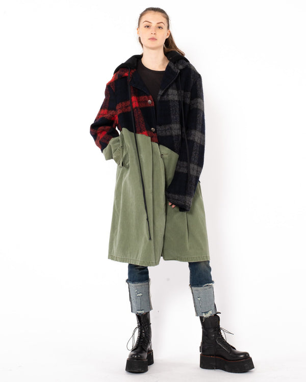GREG LAUREN - 50/50 Trench Coat | Luxury Designer Fashion | tntfashion.ca