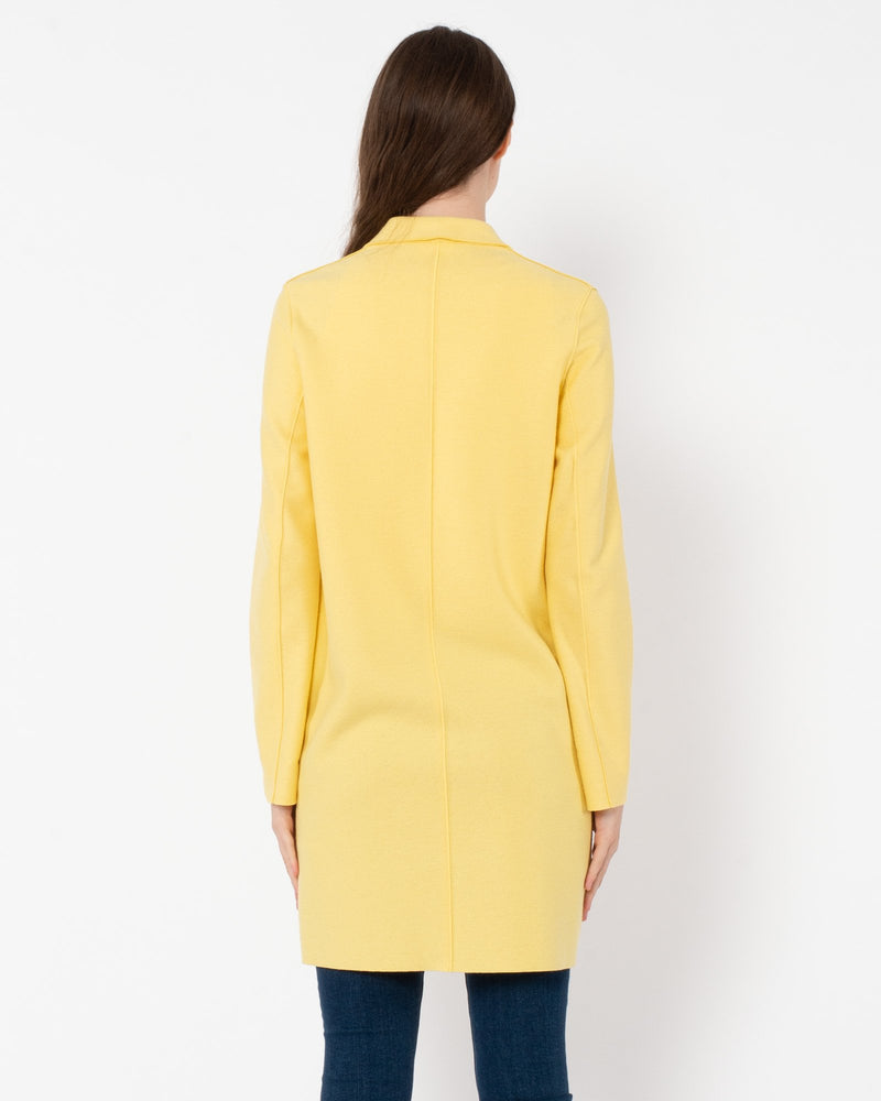 Light Pressed Wool Cocoon Coat