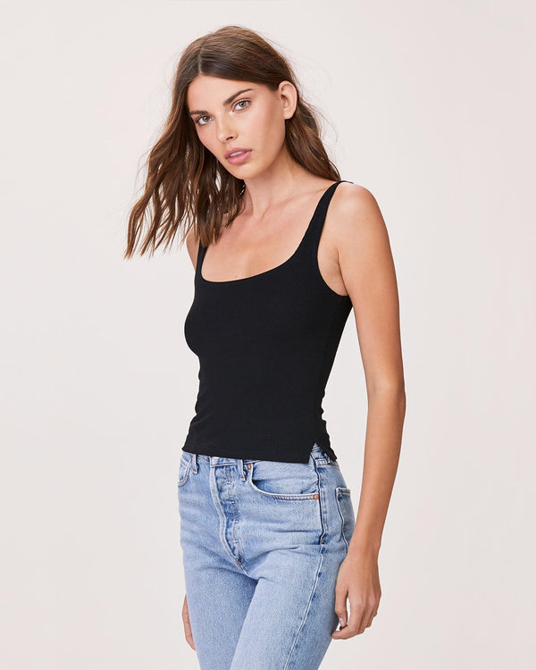 LnA Essential Ribbed Scoop Tank Top | newtntfashion.