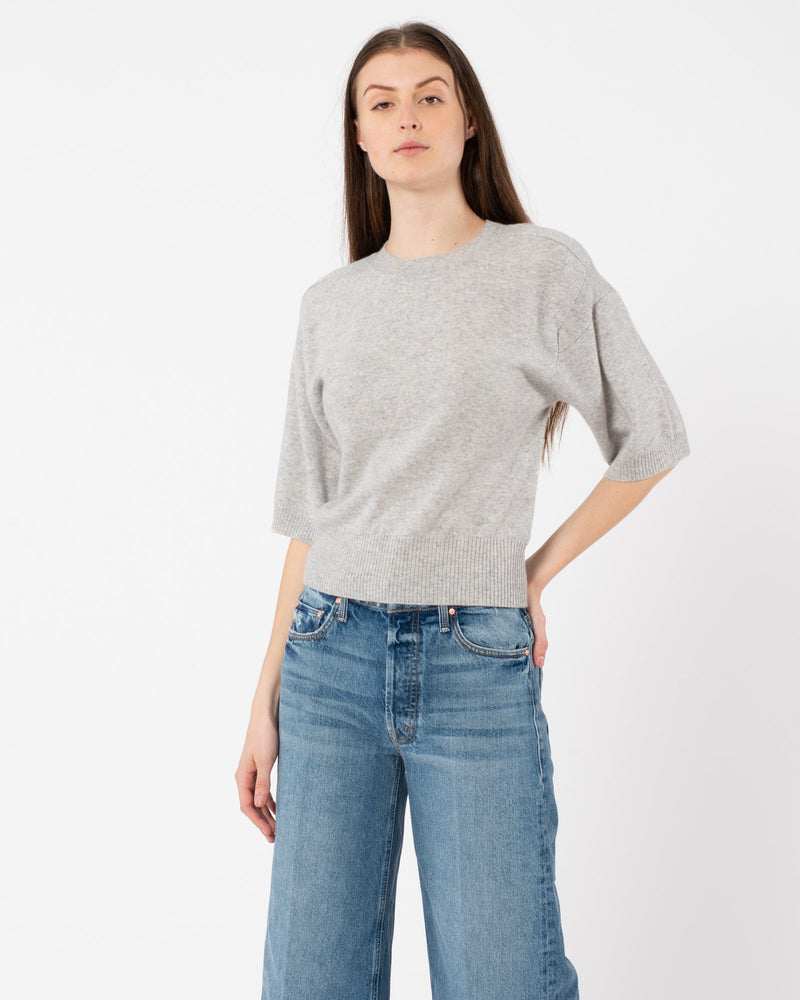 LOULOU STUDIO - Hao Short Sleeve Sweater | Luxury Designer Fashion | tntfashion.ca