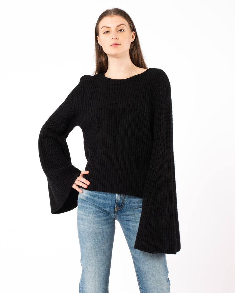 LOULOU STUDIO Tumaraa Oversized Slit Sleeve Sweater | newtntfashion.
