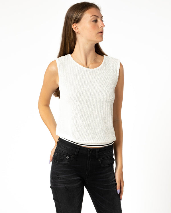 LOYD/FORD Sequin Sport Tank Top | newtntfashion.