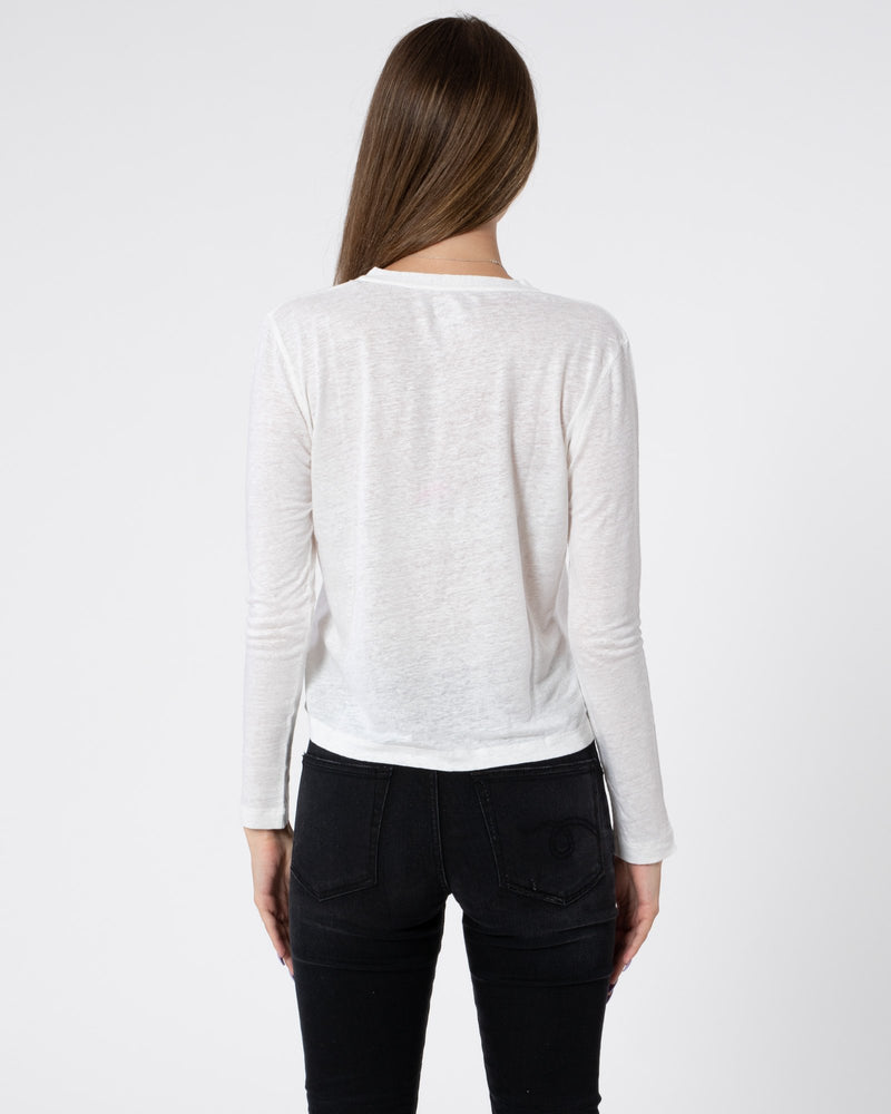 MAJESTIC FILATURES Linen V-Neck Cardigan | newtntfashion.
