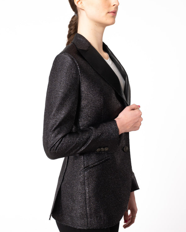 MAURIZIO MIRI Metallize Fitted Blazer | newtntfashion.
