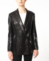 MAURIZIO MIRI - Sequin Herringbone Jacket | Luxury Designer Fashion | tntfashion.ca