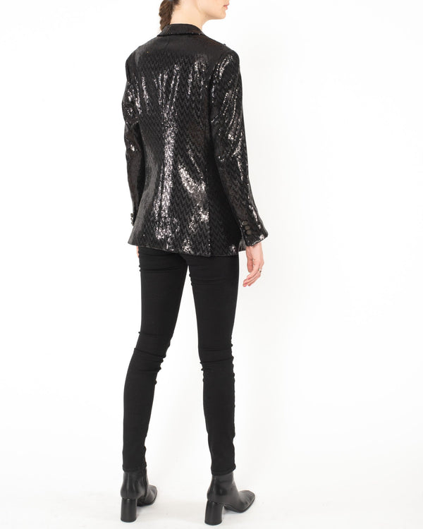 MAURIZIO MIRI Sequin Herringbone Jacket | newtntfashion.