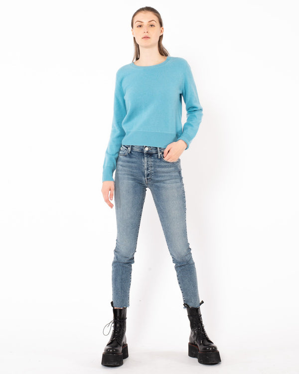 NAADAM - Cropped Crewneck Pullover | Luxury Designer Fashion | tntfashion.ca