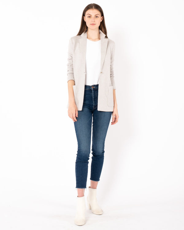 NELLS NELSON Silk Cotton Knit Blazer | newtntfashion.