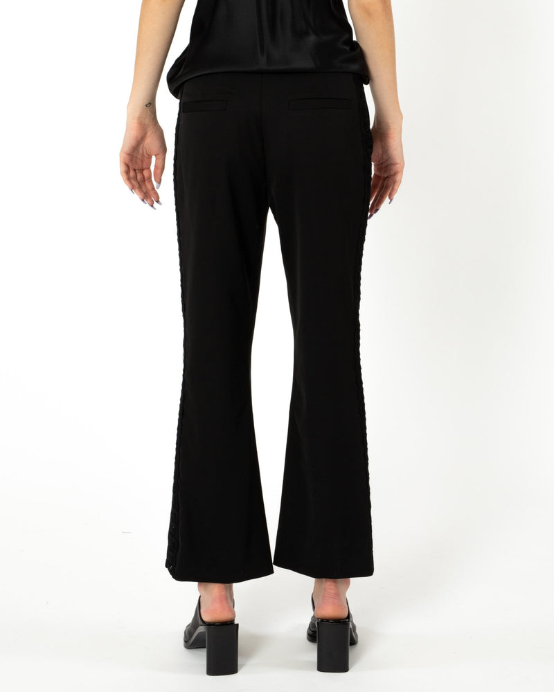 OLIVIA PALERMO - Cropped Kick Flare Trousers | Luxury Designer Fashion | tntfashion.ca