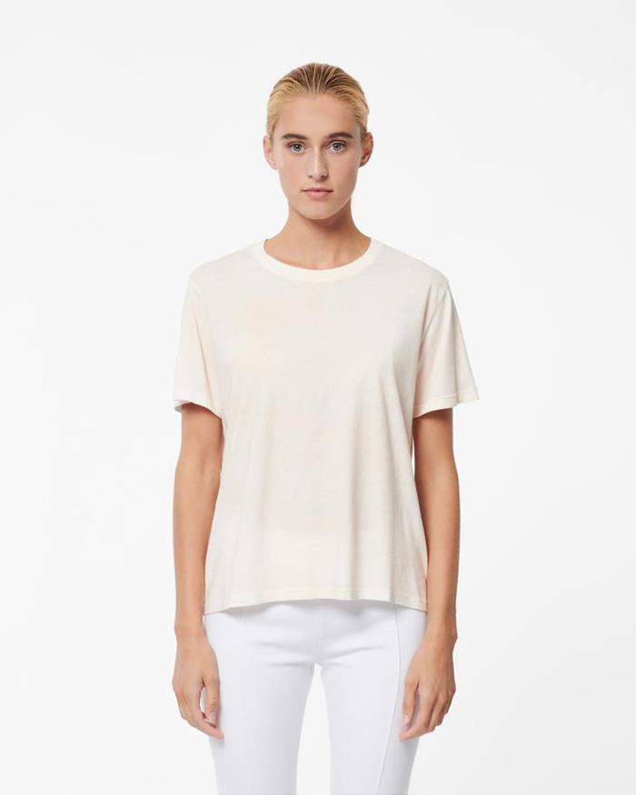 PATRICK ASSARAF Short Sleeve Spray Wash Crewneck | newtntfashion.