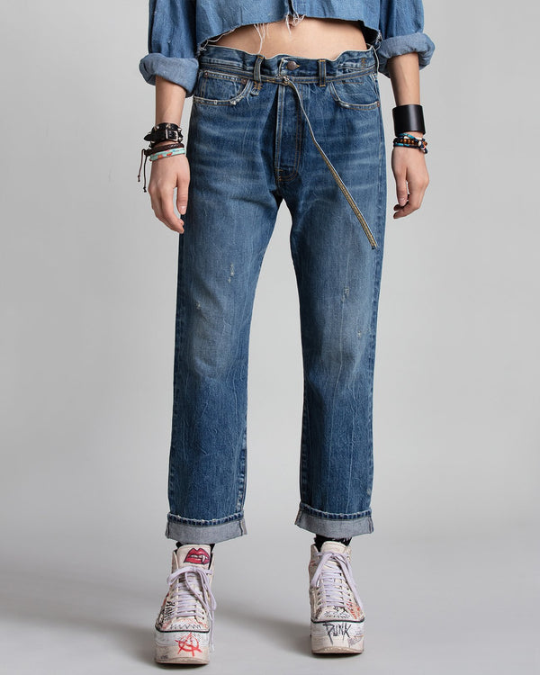 R13 Hayden Paper-Bag Jean | newtntfashion.