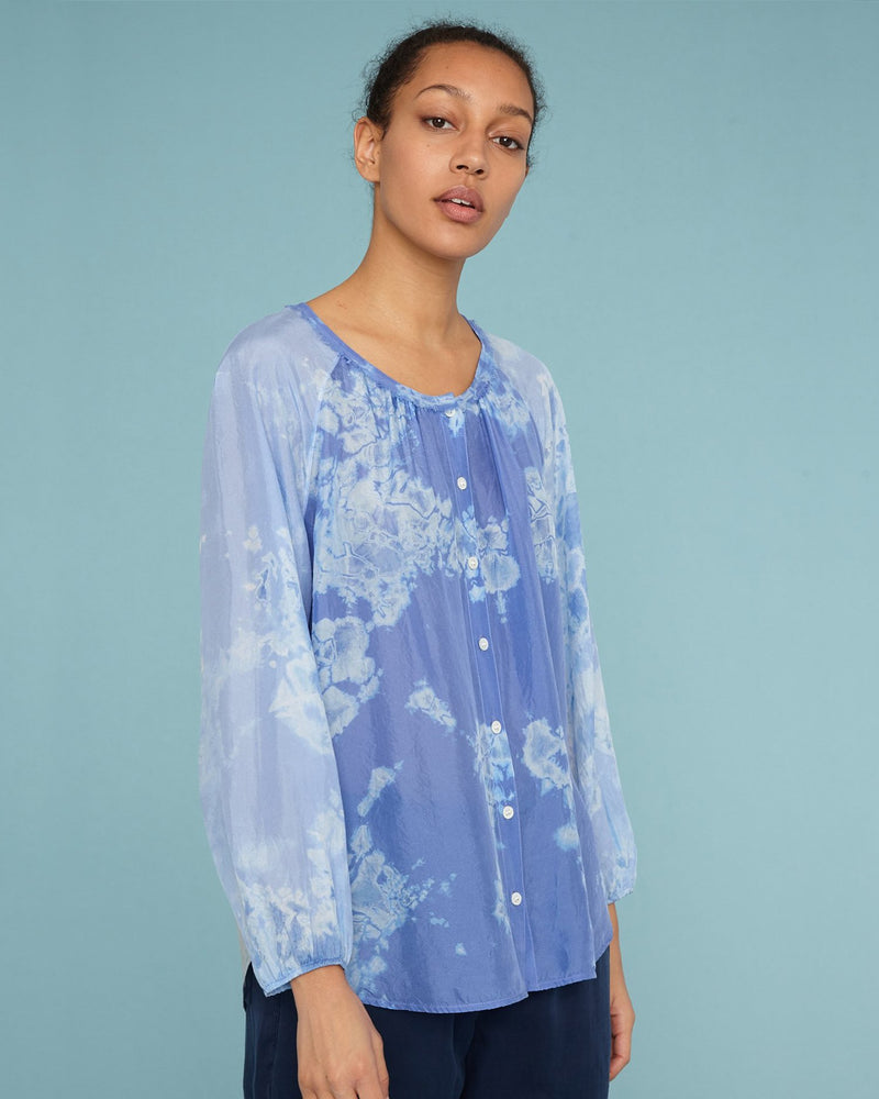 RAQUEL ALLEGRA - Silk Poet Combo Top | Luxury Designer Fashion | tntfashion.ca